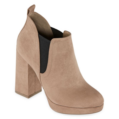 Worthington Womens Nessa Booties Block Heel