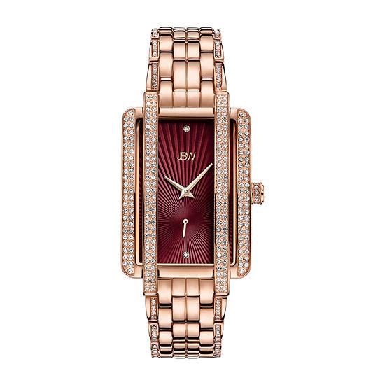 JBW Mink 18K Rose Gold Over Stainless Steel 1/8 C.T. T.W.Genuine Diamond Bracelet Watch-J6358f