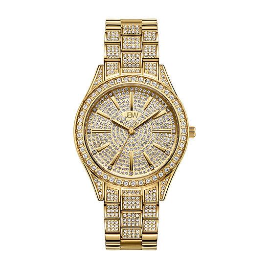 JBW Cristal 18K Gold Over Stainless Steel 1/8 CT. T.W. Genuine Diamond Bracelet Watch-J6383a