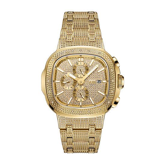 JBW Heist 18K Gold Over Stainless Steel 1/5 C.T. T.W. Genuine Diamond Bracelet Watch-J6380a