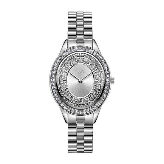 JBW Bellini 1/8 C.T. T.W. Genuine Diamond Womens Diamond Accent Gold Tone Stainless Steel Bracelet Watch-J6381c