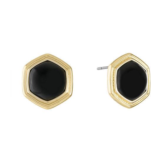 Monet Jewelry Black 17.8mm Stud Earrings