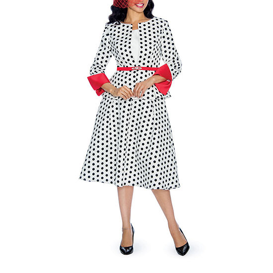 Giovanna Collection Polka Dot Skirt Suit