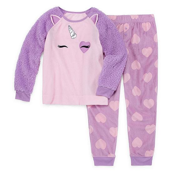 Arizona Little Kid / Big Kid Girls 2-pc. Pant Pajama Set