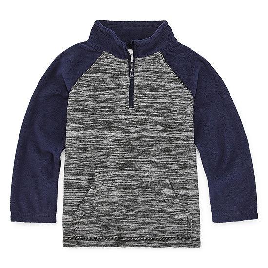Okie Dokie Boys Long Sleeve Quarter-Zip Pullover - Toddler