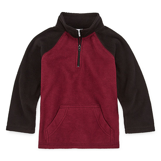 Okie Dokie Boys Long Sleeve Quarter-Zip Pullover - Toddler