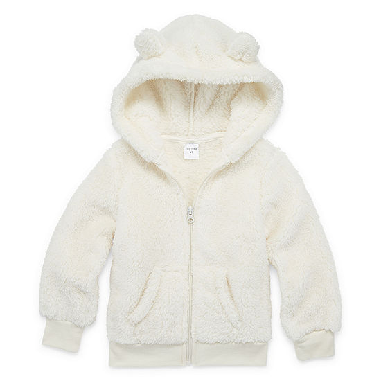 Okie Dokie Sherpa Girls Hoodie-Toddler