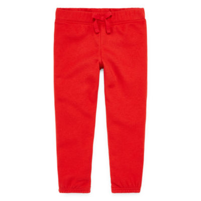 Okie Dokie Girls Fleece Straight Jogger Pant - Toddler