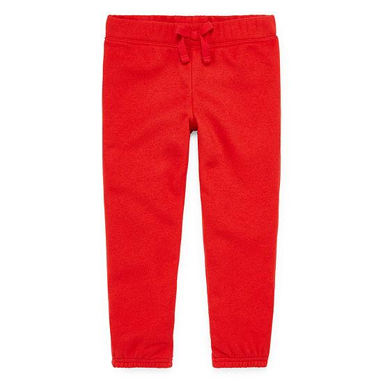 Okie Dokie Girls Fleece Straight Jogger Pant - Toddler