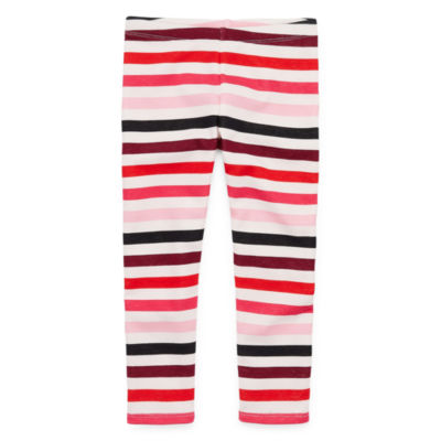 Okie Dokie Printed Fleece Lined Girls Legging - Toddler