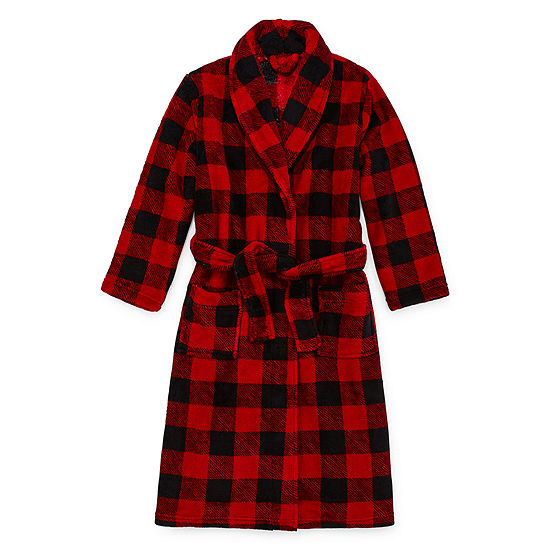 Arizona Holiday Little & Big Boys Fleece Long Sleeve Mid Length Robe