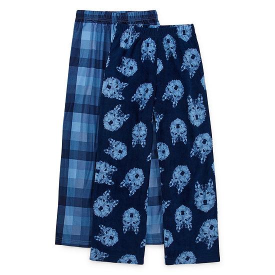 Hanes 2 Pack Boys Fleece Pajama Pants