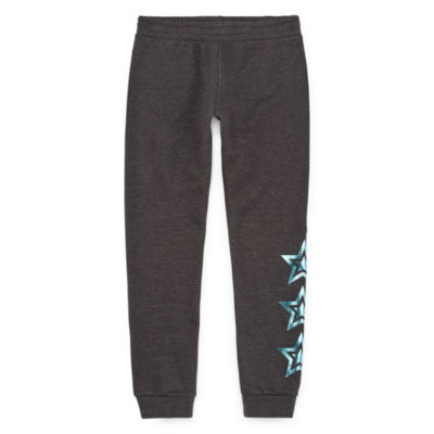 Xersion Cotton Fleece Little & Big Girls Cuffed Jogger Pant