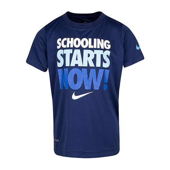 Nike Boys Crew Neck Short Sleeve Dri-Fit Graphic T-Shirt - Preschool