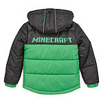 Mojang Boys Outerwear - Boys Minecraft Hooded Heavyweight Puffer Jacket-Preschool
