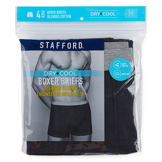 Stafford 4 Pair Dry+Cool Boxer Briefs - Big