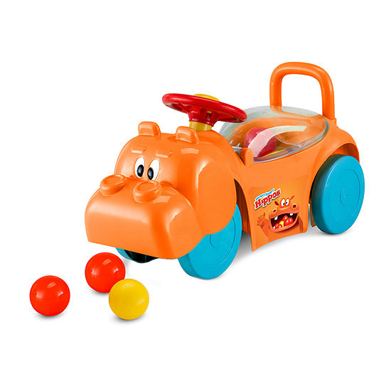 Kid Trax Hungry Hippo Foot To Floor Ride-On Animals