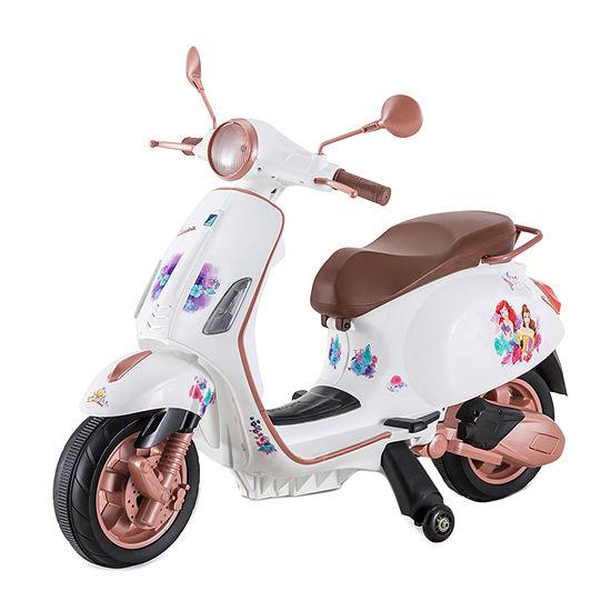 Kid Trax Disney Princess Vespa 6volt Electric Ride-On Motorcycle