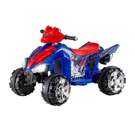 Kid Trax Spiderman 6 Volt Ktx Atv Electric Spiderman Ride-On Quad