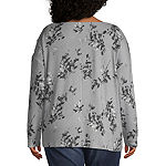 a.n.a Plus Womens Crew Neck Long Sleeve Sweatshirt
