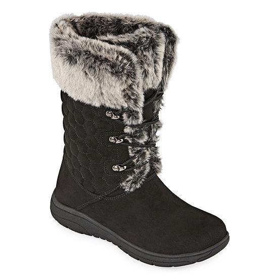 Liz Claiborne Womens Clinton Winter Boots Flat Heel
