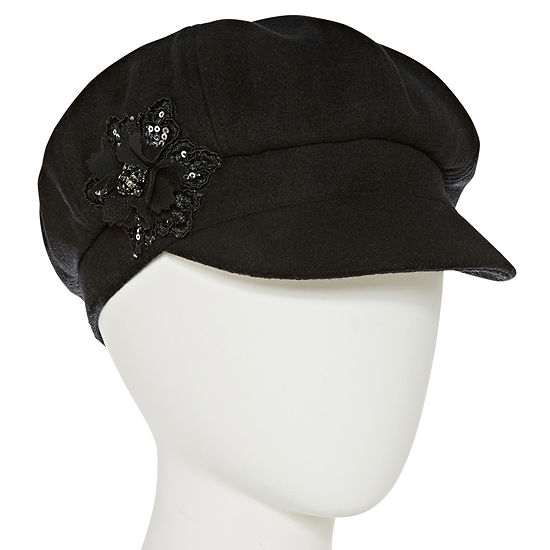 August Hat Co. Inc. Sequin Flower Newsboy Hat