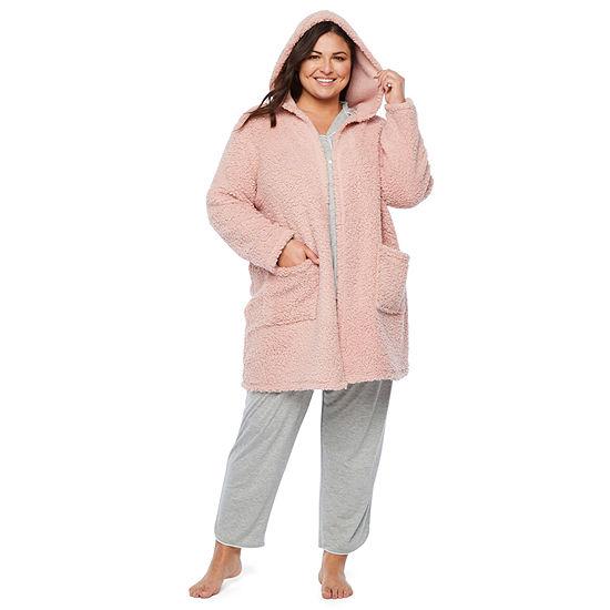 Ambrielle Womens Plush Pajama Top