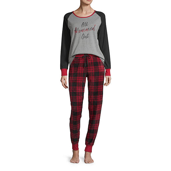 Holiday #Famjams Womens Pant Pajama Set 2-pc. Long Sleeve