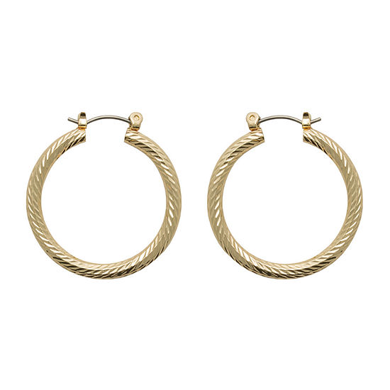 Bold Elements Copper Hoop Earrings