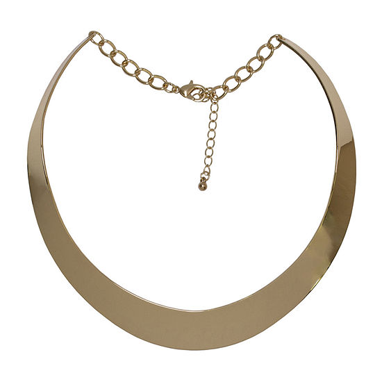 Bold Elements Stainless Steel 14 Inch Curb Collar Necklace