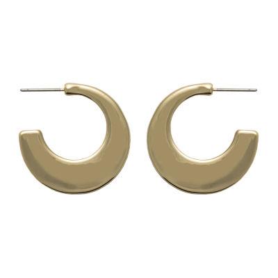 Bold Elements 1 Pair Round Hoop Earrings