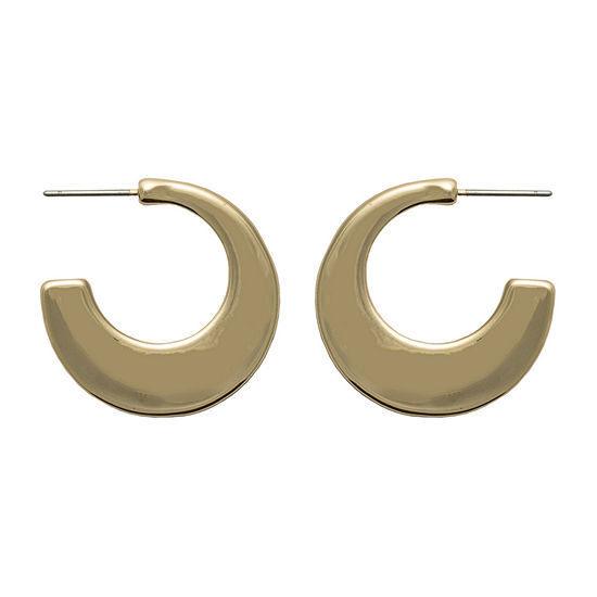 Bold Elements 1 Pair Round Hoop Earrings