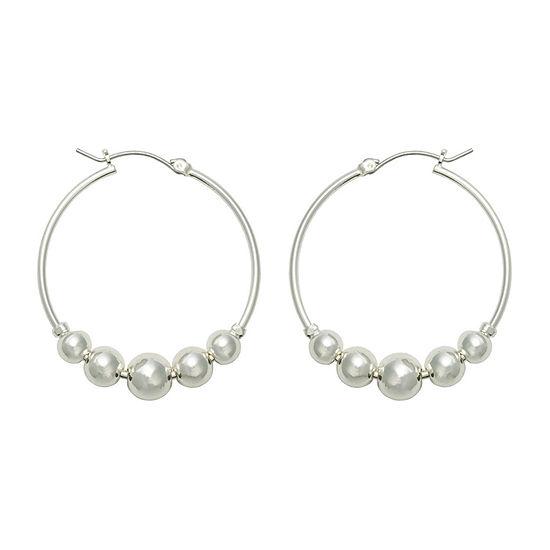 Bold Elements 1 Pair Stainless Steel Round Hoop Earrings