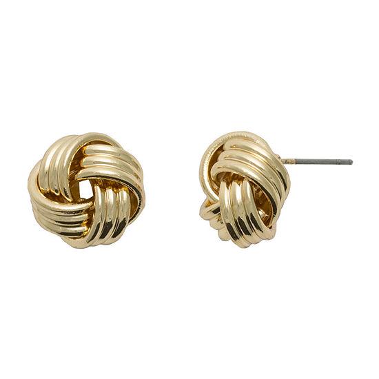 Bold Elements Knot 14mm Stud Earrings