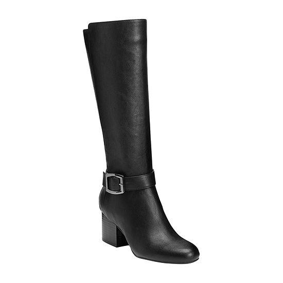 Aerosoles Womens Patience Riding Block Heel Boots