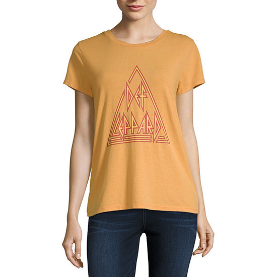 Epic Rights Womens Crew Neck Short Sleeve Graphic T-Shirt-Juniors