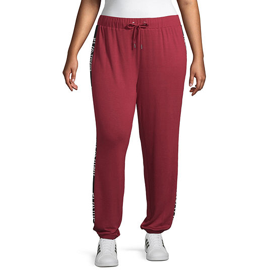 Inspired Hearts Womens Mid Rise Cinched Drawstring waist Pants-Juniors Plus