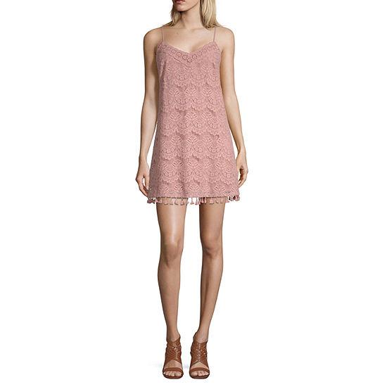Speechless Lace Tassle Dress