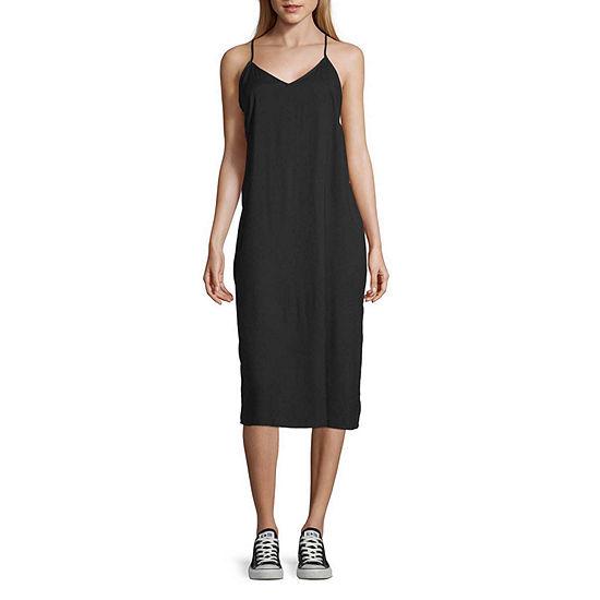 Arizona Sleeveless Shift Dress-Juniors Plus