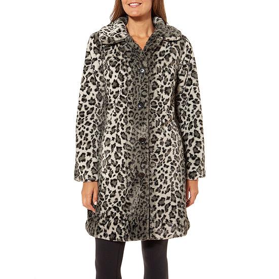 Liz Claiborne Lightweight Faux Fur Coat