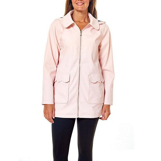 Liz Claiborne Hooded Lightweight Raincoat