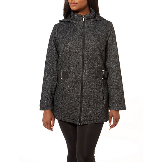 Liz Claiborne Fleece Lightweight Jacket-Plus