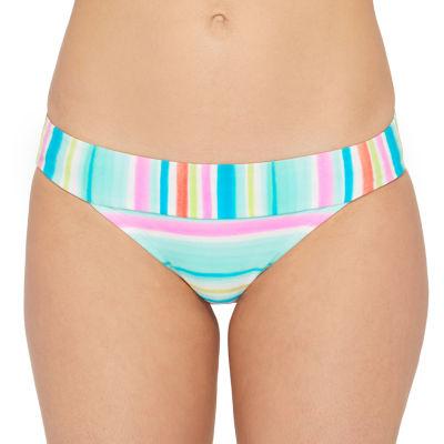 Arizona Striped Hipster Swimsuit Bottom Juniors