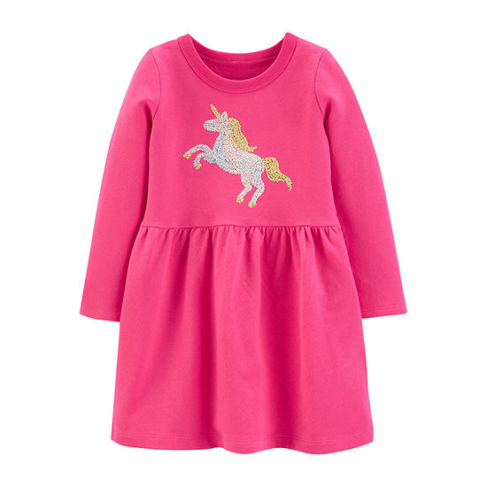 Carter's Toddler Girls Long Sleeve A-Line Dress