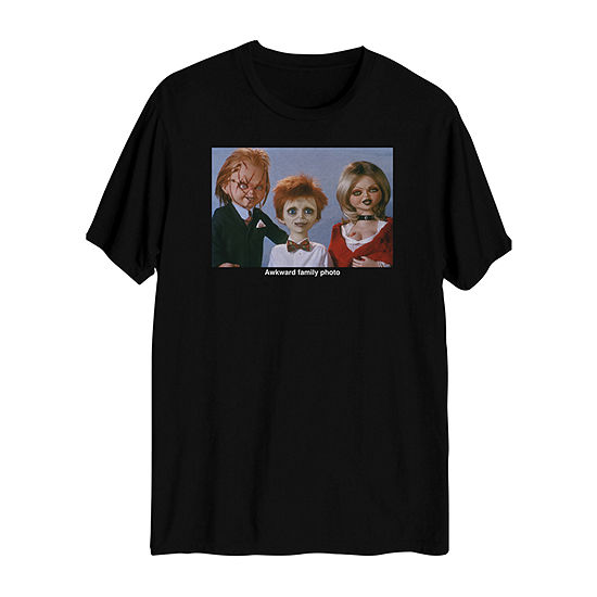 Chucky Mens Crew Neck Short Sleeve Graphic T-Shirt