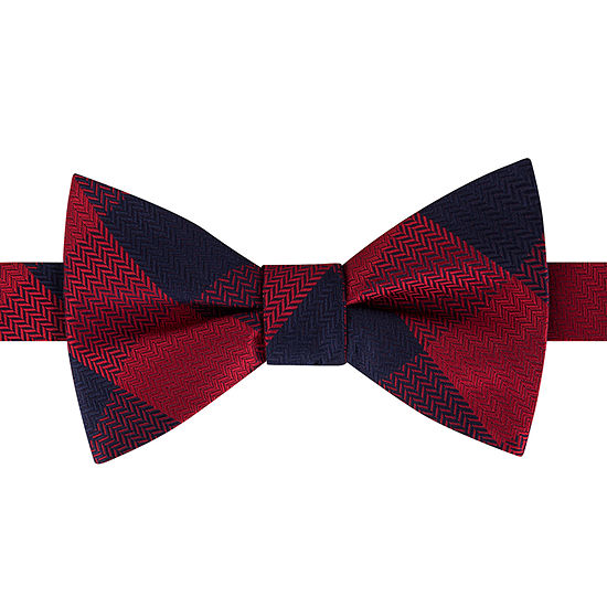 Stafford Pretied Plaid Bow Tie