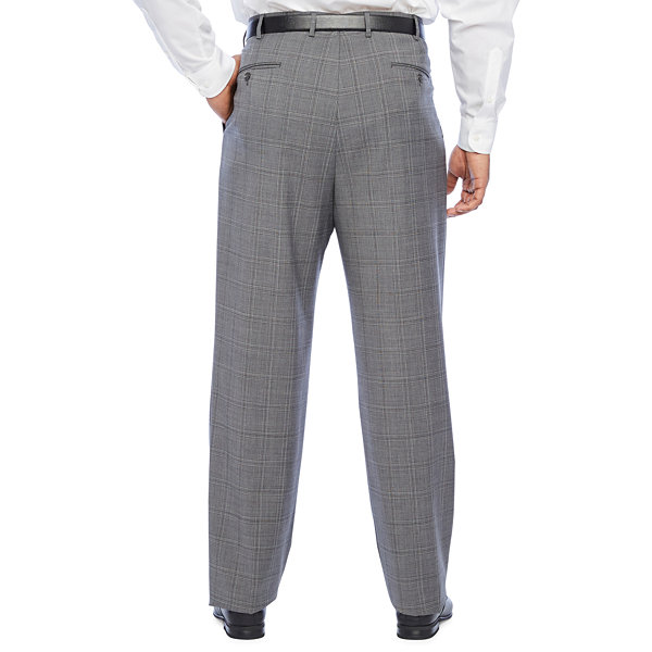 Stafford Super Suit Plaid Stretch Suit Pants