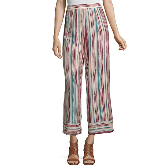 Society And Stitch-Juniors Womens Wide Leg Pull-On Pants