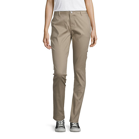 Dickies-Juniors Womens Mid Rise Skinny Flat Front Pant