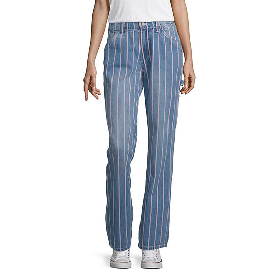 Dickies-Juniors Womens High Rise Relaxed Fit Ankle Pant
